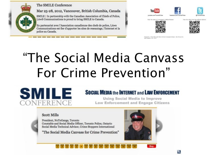 """The Social Media Canvass  For Crime Prevention"""