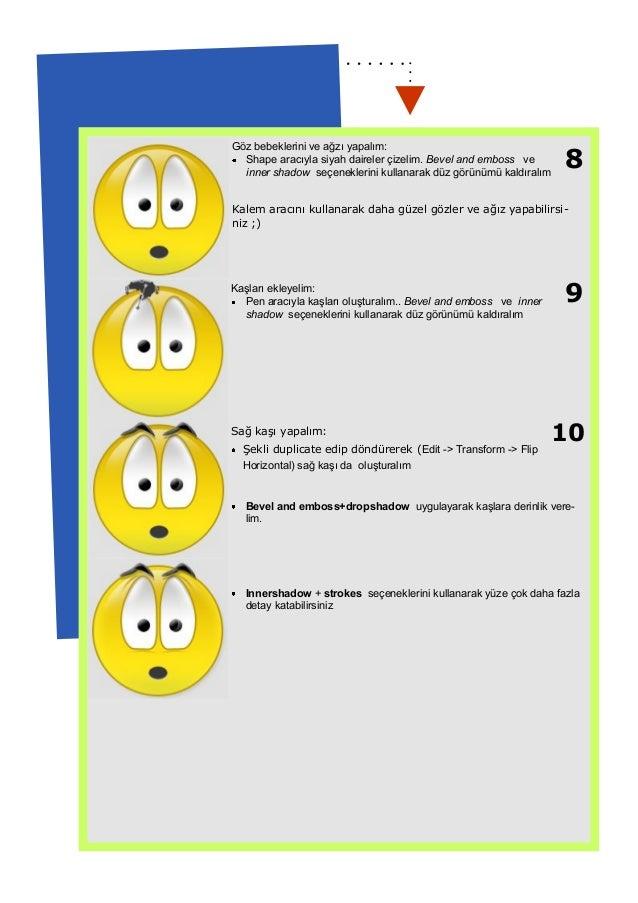 Smiley yapımı - Eğitimde Grafik Tasarımı Dersi