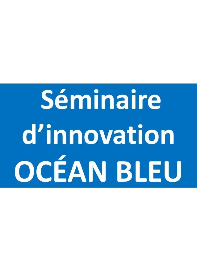 Séminaire d'innovation OCÉAN BLEU