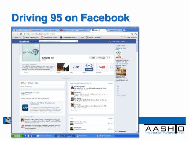 Driving 95 on Facebook
