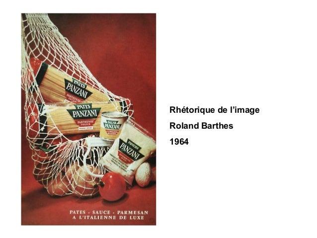 Rhétorique de l'image Roland Barthes 1964