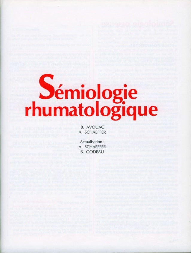 Sémiologie rhumatologique