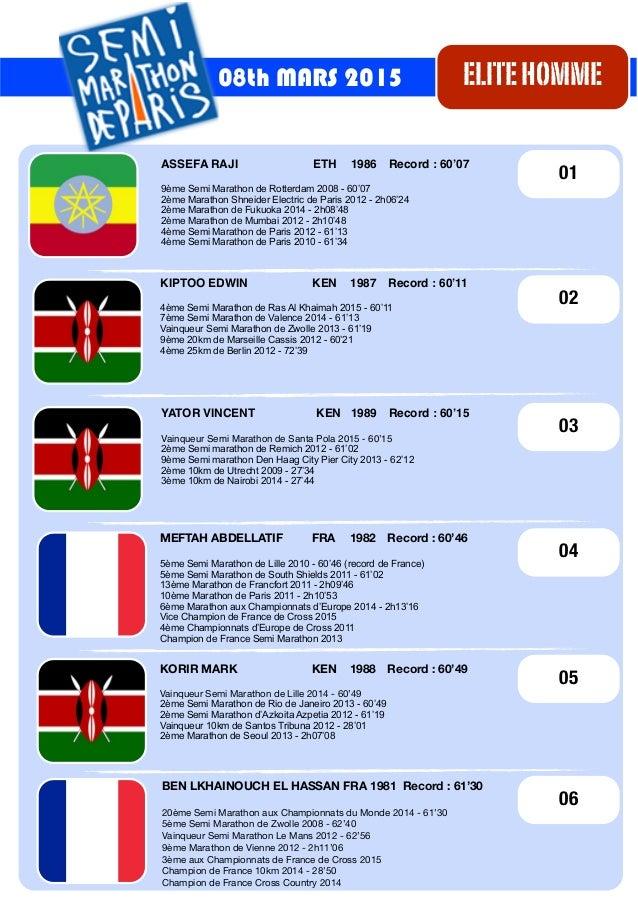 KIPTOO EDWIN! ! KEN ! 1987 ! Record : 60'11 4ème Semi Marathon de Ras Al Khaimah 2015 - 60'11 7ème Semi Marathon de Valenc...