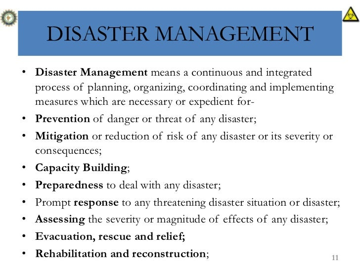 implementation of national disaster management act