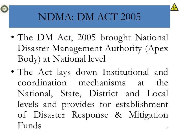 implementation of national disaster management act Acts online provides legislation national disaster management advisory forum 6 commencement of the disaster management amendment act.