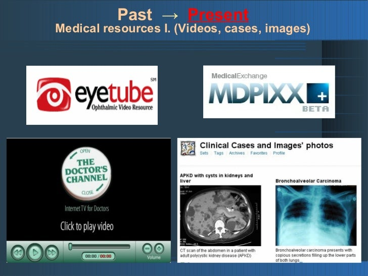 Past → Present Medical resources II. (Slideshows)
