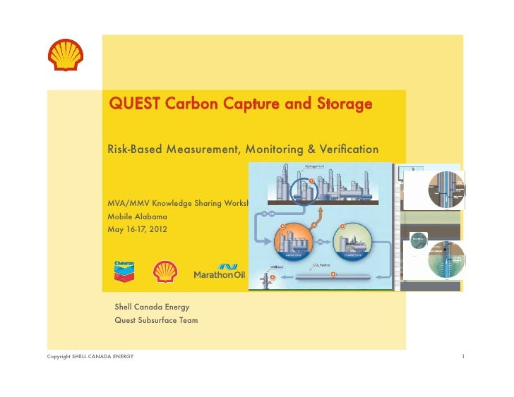 "QUEST Carbon Capture and Storage""                    Risk-Based Measurement, Monitoring & Verification!                    ..."