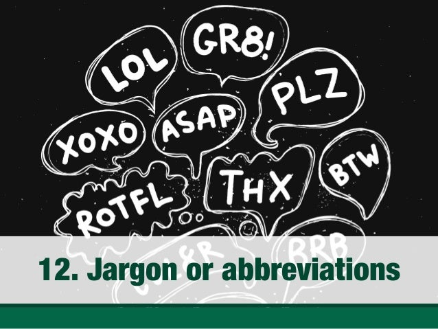 Jargon Or Abbreviations ...  Resume No Nos