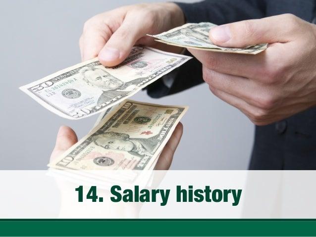 Salary history; 18.