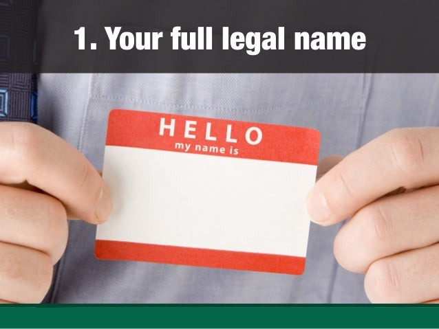 Marvelous Your Full Legal Name ... Intended Resume No Nos