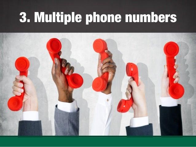 Multiple phone numbers ...