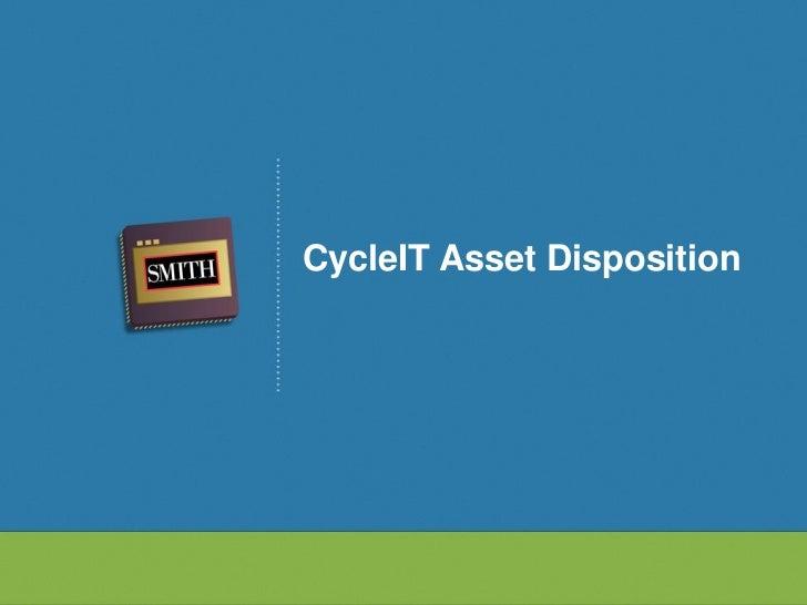 CycleIT Asset Disposition