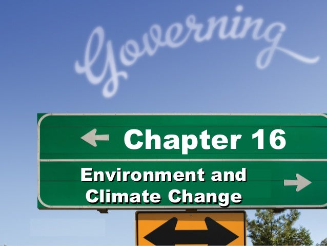 Chapter 16Environment andClimate Change