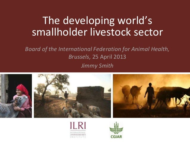 The developing world'ssmallholder livestock sectorBoard of the International Federation for Animal Health,Brussels, 25 Apr...