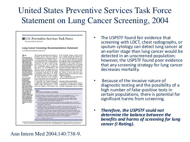 Screening In Asbestos Related Diseases Lung Cancer At