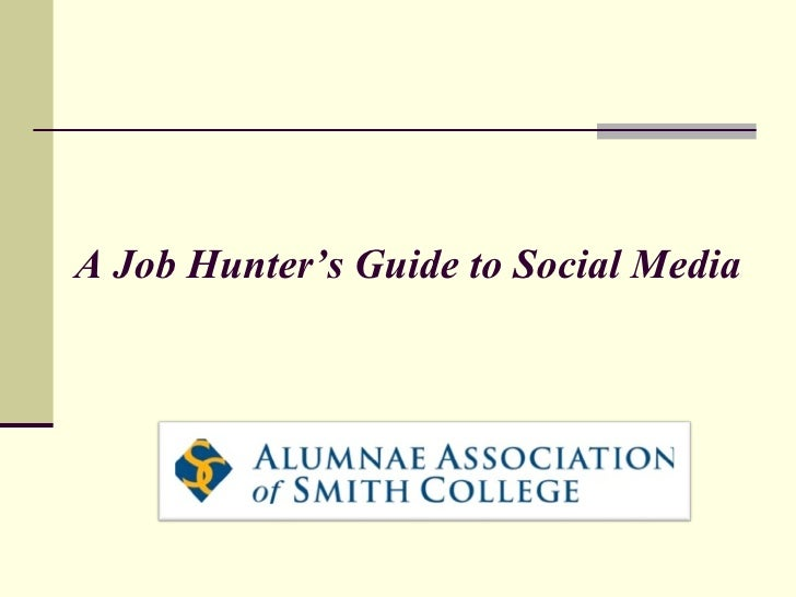 A Job Hunter's Guide to Social Media