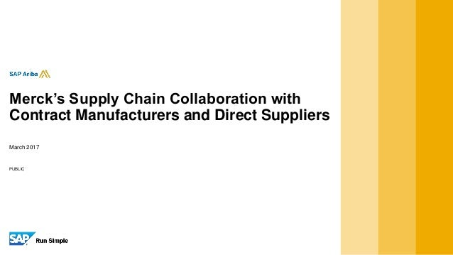 Mercks Supply Chain Collaboration With Contract Manufacturers And Di