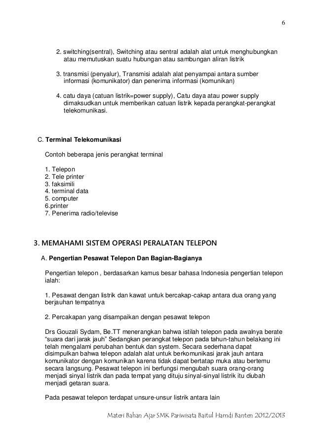 Smk Pariwisata Baitul Hamdi Banten Panduan Materi Berkomunikasi Melal