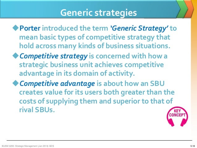 generic strategy definition