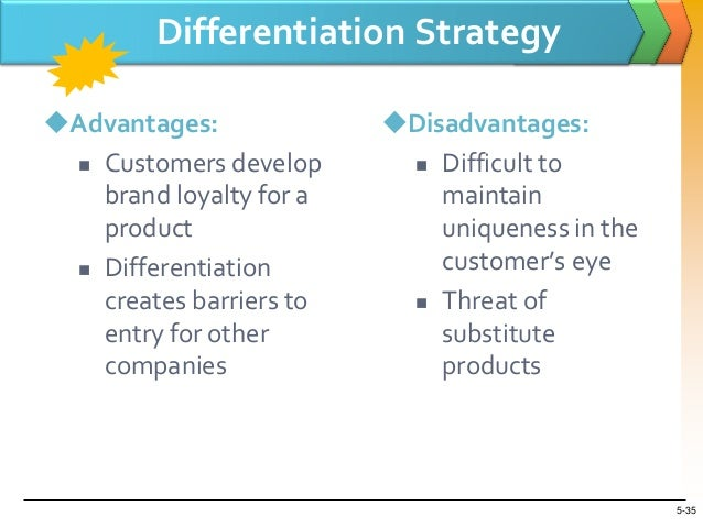 disadvantages of product differentiation and advertising Products competitive rivalry porter's force 1: threat of new entrants • new  entrants  product differentiation • capital  advertising battles  disadvantage.