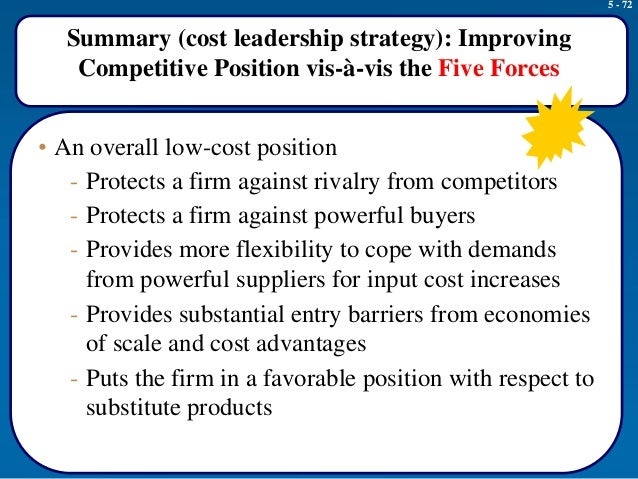 cost leadership strategy essay Apple strategy management essay this is mainly the result of effective implementation of cost-leadership and differentiation strategy over the years.