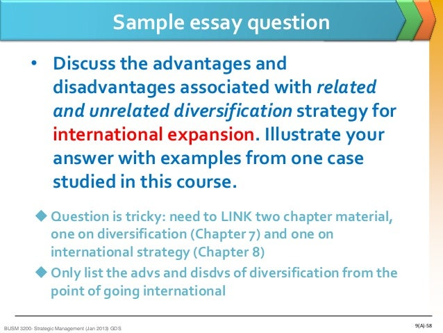 advantages and disadvantages of unrelated diversification