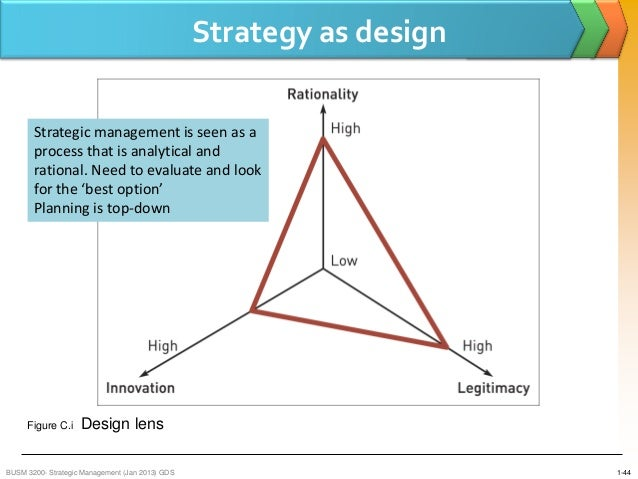 the strategic design lens Whereas the strategic design lens groups and links units that must work together to accomplish tasks, the political lens combines units with similar interests and goals into coalitions that advocate their side of important issues.
