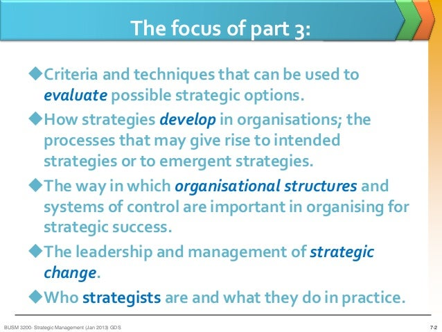 strategic options in strategic management