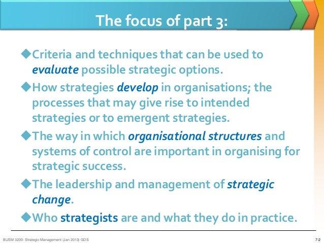 strategic options in strategic management