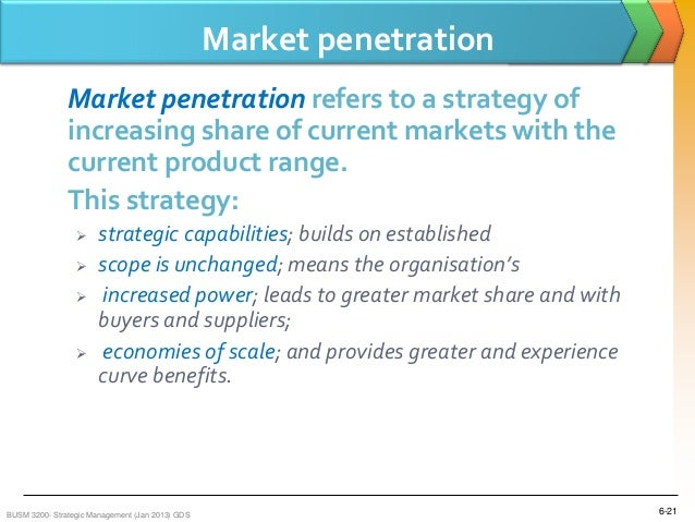 Market penetration advantages