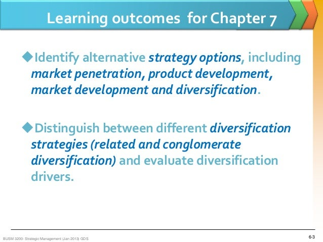 Diversification strategy in strategic management