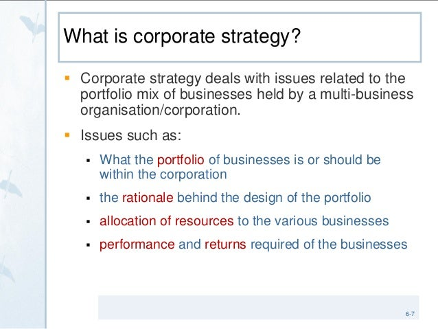 Dissertation corporate strategy