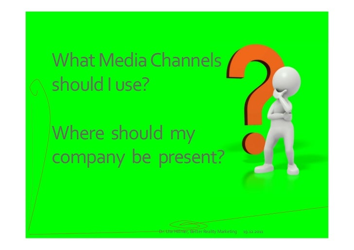 The Social Media Toolbox - what channels should my B2B company use? Slide 2