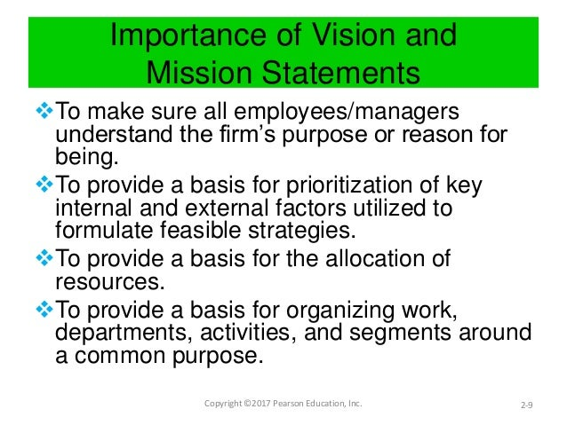 Importance Of Vision And Mission Statements ...