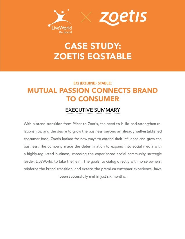 CASE STUDY: ZOETIS EQSTABLE EQ (EQUINE) STABLE:  MUTUAL PASSION CONNECTS BRAND TO CONSUMER EXECUTIVE SUMMARY -