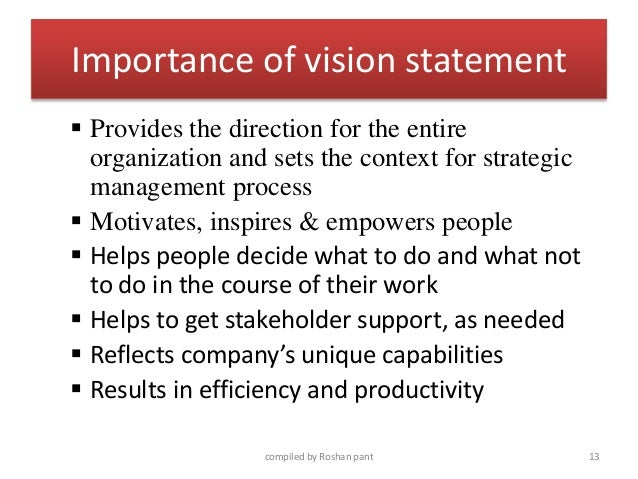 Lovely Importance Of Vision Statement ...