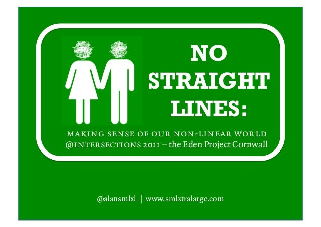 NO STRAIGHT LINES: making sense of our non-linear world @intersections 2011 – the Eden Project Cornwall @alansmlxl | www.s...