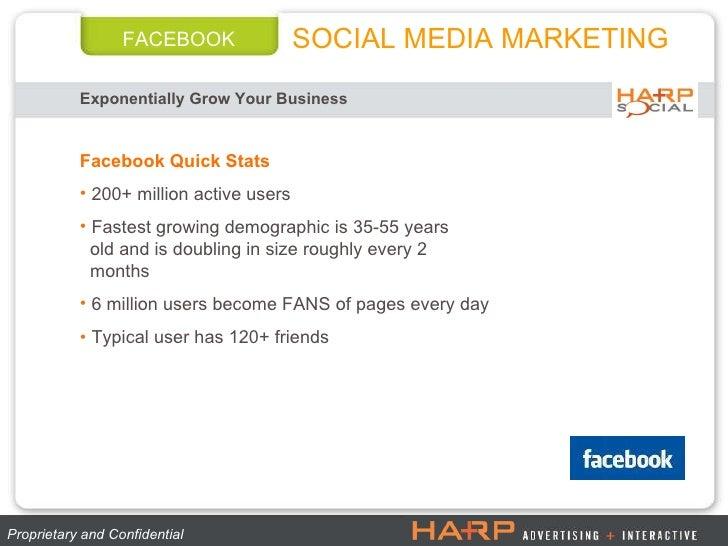 FACEBOOK Exponentially Grow Your Business   Proprietary and Confidential  <ul><li>Facebook Quick Stats </li></ul><ul><li>2...