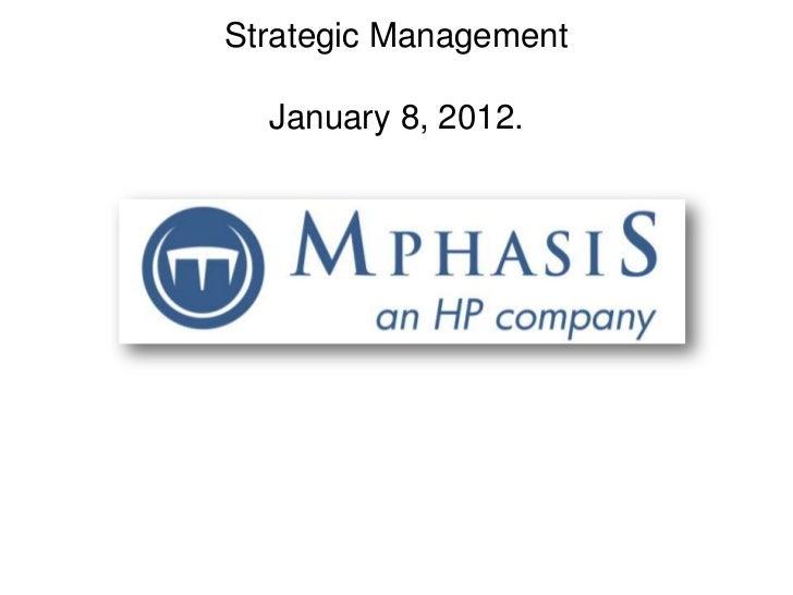 Strategic Management  January 8, 2012.