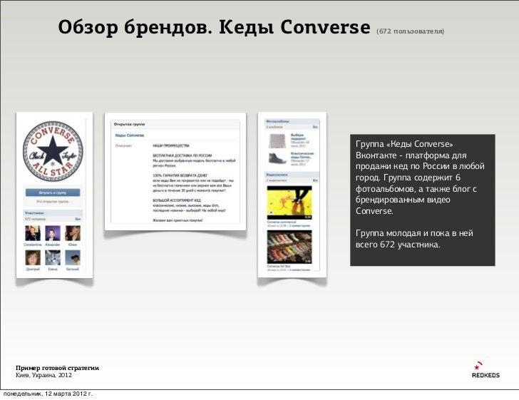 Обзор брендов. Кеды Converse   (672 пользователя)                                           Группа «Кеды Converse»        ...