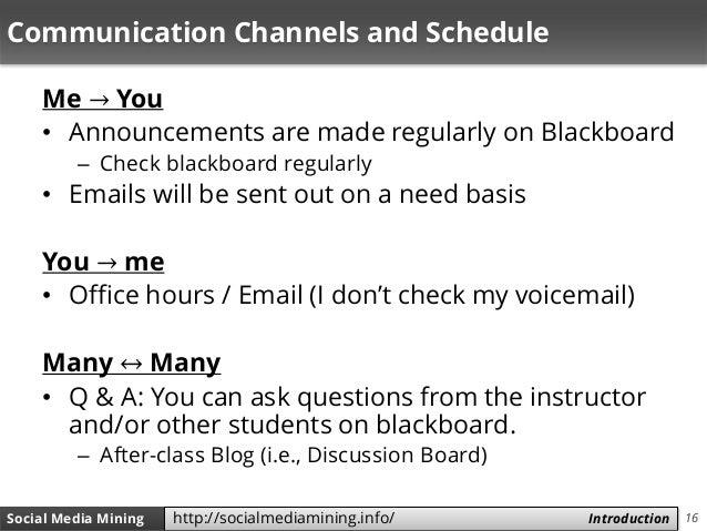 16Social Media Mining Measures and Metrics 16Social Media Mining Introductionhttp://socialmediamining.info/ Communication ...