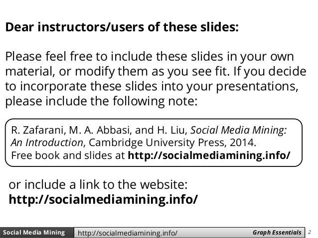 Social Media Mining - Chapter 2 (Graph Essentials) Slide 2