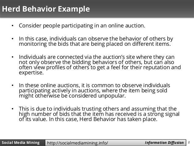8Social Media Mining Measures and Metrics 8Social Media Mining Information Diffusionhttp://socialmediamining.info/ Herd Be...