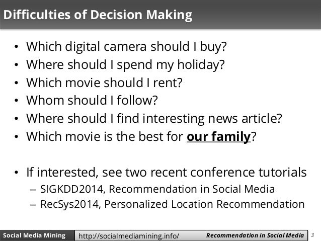 Social Media Mining - Chapter 9 (Recommendation in Social Media) Slide 3