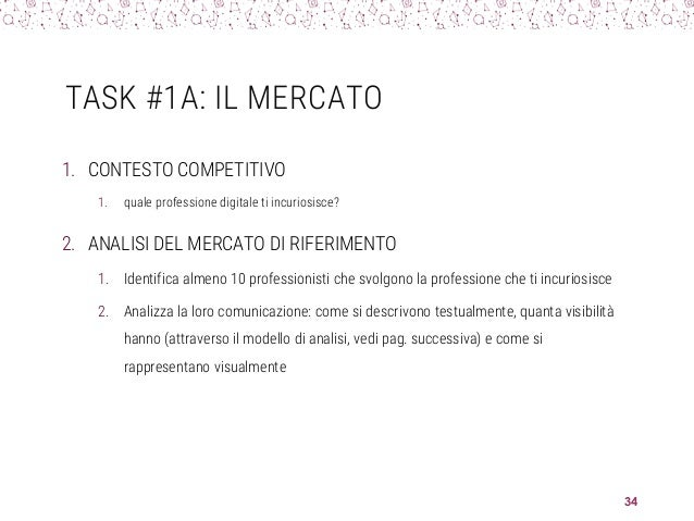 TASK #1A: IL MERCATO 1. CONTESTO COMPETITIVO 1. quale professione digitale ti incuriosisce? 2. ANALISI DEL MERCATO DI RIFE...
