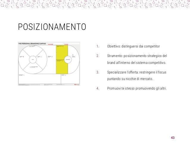 POSIZIONAMENTO 1. Obiettivo: distinguersi dai competitor 2. Strumento: posizionamento strategico del brand all'interno del...