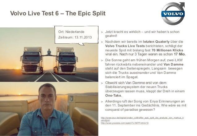 Volvo Live Test 6 – The Epic Split Ort: Niederlande Zeitraum: 13.11.2013  > Jetzt kracht es wirklich – und wir haben's sch...