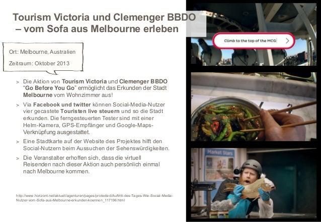 Tourism Victoria und Clemenger BBDO – vom Sofa aus Melbourne erleben Ort: Melbourne, Australien Zeitraum: Oktober 2013 > D...