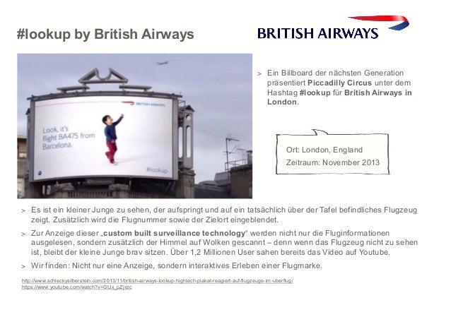#lookup by British Airways > Ein Billboard der nächsten Generation  präsentiert Piccadilly Circus unter dem Hashtag #looku...