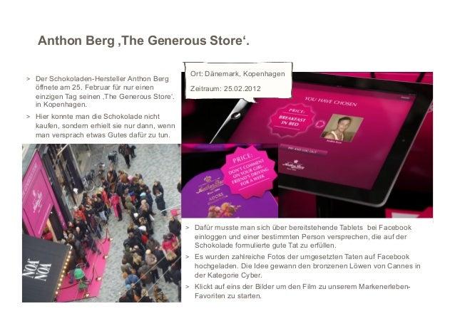 Anthon Berg 'The Generous Store'.                                                  Ort: Dänemark, Kopenhagen > Der Schoko...